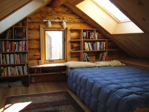 Cabin Bookshelves