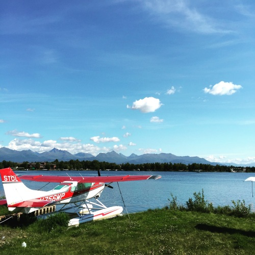 One of hundreds of small planes at the Lake Hood Seaplane Base.