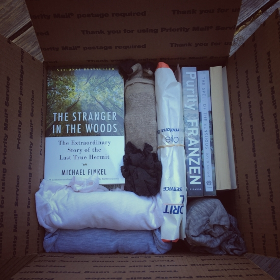Box of books heading for Alaska