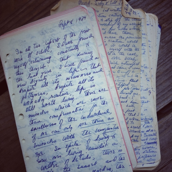 Photo of a handwritten journal