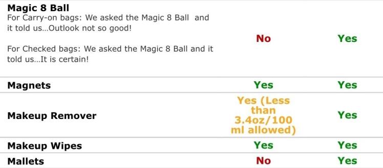 Screenshot from TSA website -- Magic 8 Ball