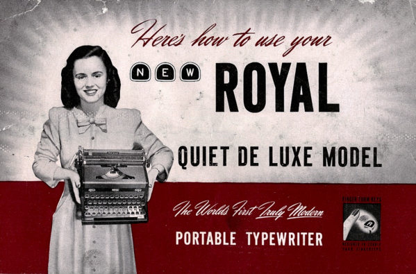 Photo of Royal Quiet De Luxe Typewriter Users Manual