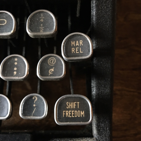 Photo of vintage typewriter keys