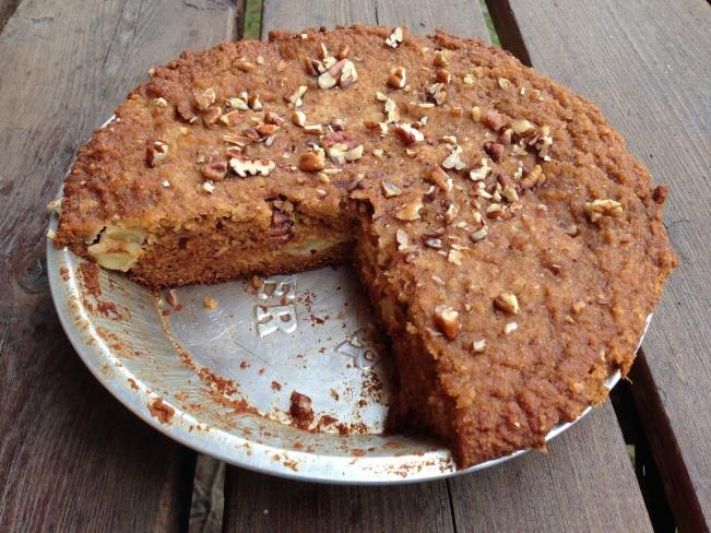 Dutch Oven Apple Spice Cake